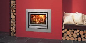 wall mounted multifuel stove insert