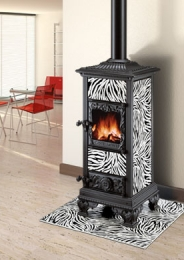 castelmonte zebra wood burning stove