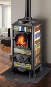 Castelmonte Wood Stove Kandinsky multi coloured wood stove