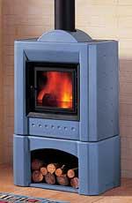 piazzetta blue enamel stove