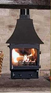 woodwarm multifuel stove - fireview slender