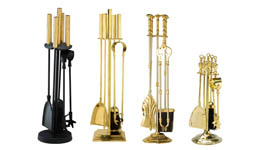 brass fireside tools companion set