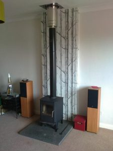 free standing stove installation