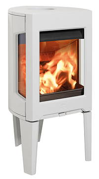 Jotul F163 white DEFRA approved stove stirling