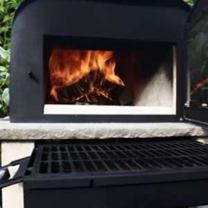 barbecue tray for outdoor wood fired pizza  oven