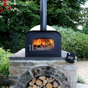 DIY pizza oven kit set on brick built base