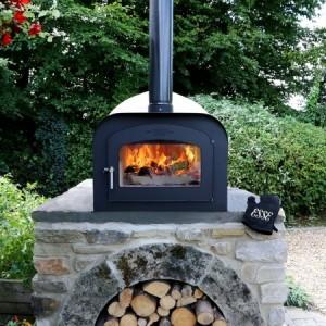 DIY pizza oven kit set on brick built base