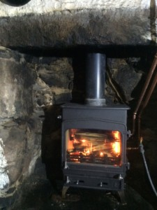 woodwarm stove installed in glen etive bothy