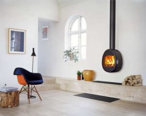 Scan wood burning stove